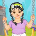 הלבשת ילדה חמודה בפארק